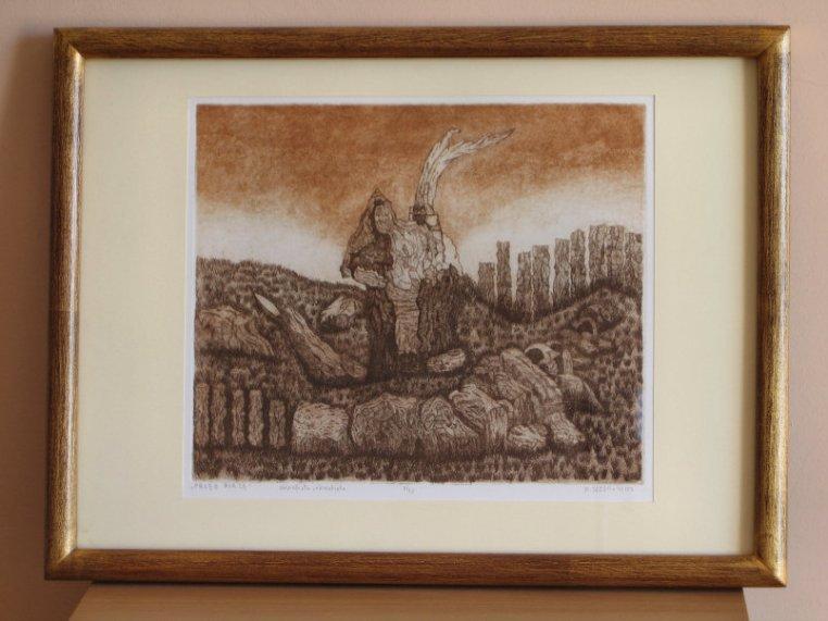 Maciej Józefowicz, grafika, wymiary 27cm x 23cm