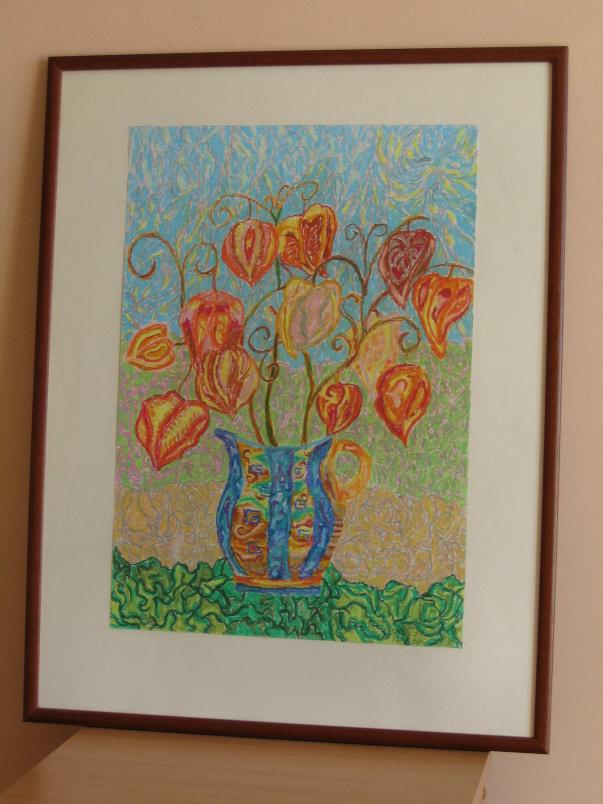 Marek Szporka, pastela, wymiary 50cm x 35cm