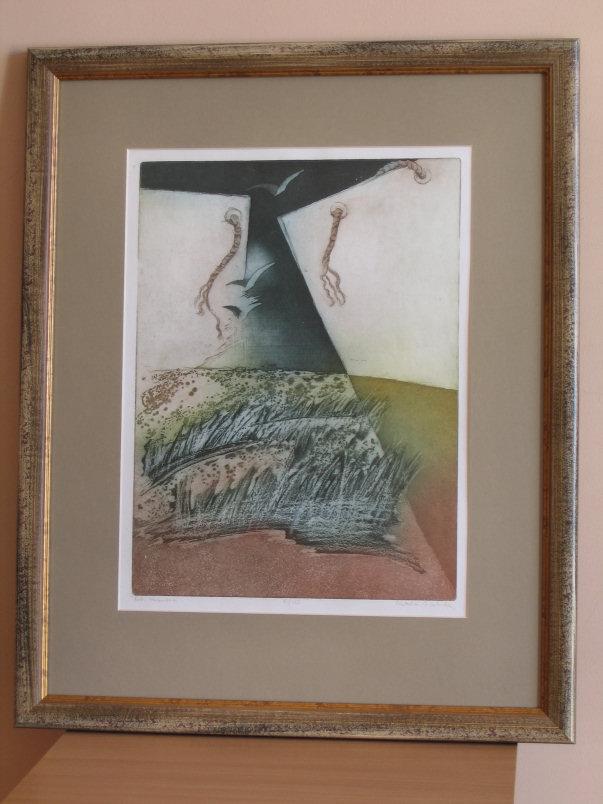 Izabela Walicka, grafika, wymiary 32cm x 28cm