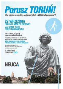Porusz Toruń! Plakat marszu dla zdrowia.